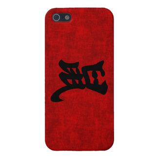 Símbolo chino de la caligrafía para la rata en iPhone 5 carcasa
