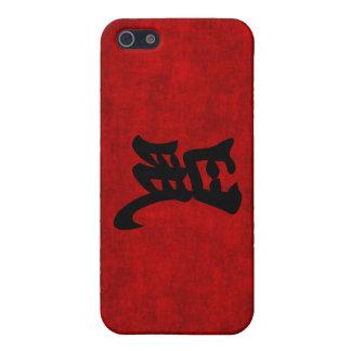 Símbolo chino de la caligrafía para la rata en iPhone 5 carcasas