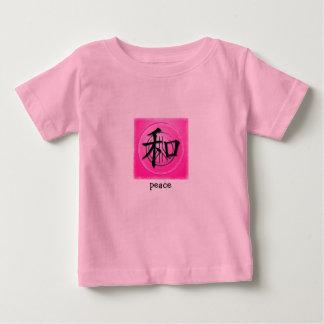 Símbolo chino de la camiseta infantil para la paz playera para bebé