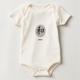 Símbolo chino de la enredadera infantil para el mamelucos de bebé