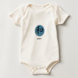 Símbolo chino de la enredadera infantil para la body de bebé