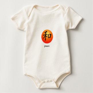 Símbolo chino de la enredadera infantil para la mameluco
