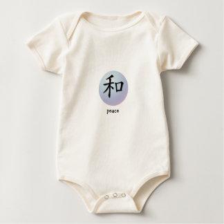 Símbolo chino de la enredadera infantil para la mameluco de bebé