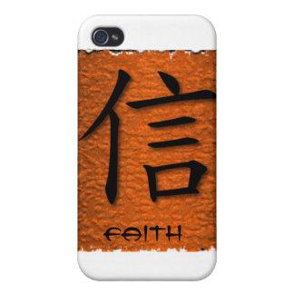 símbolo chino de la fe de los casos del iPhone 4 e iPhone 4/4S Funda