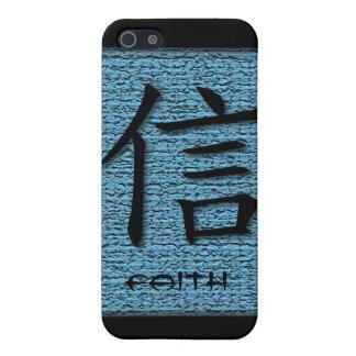 símbolo chino de la fe de los casos del iPhone 4 e iPhone 5 Funda