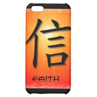 símbolo chino de la fe del caso del iPhone 4 en cr