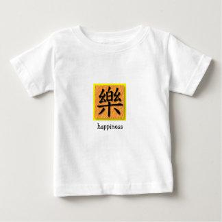 Símbolo chino de la felicidad de la camiseta playera