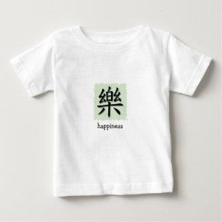 Símbolo chino de la felicidad de la camiseta playeras