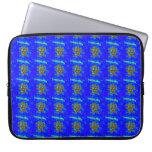 símbolo chino de la tranquilidad en la manga azul fundas portátiles