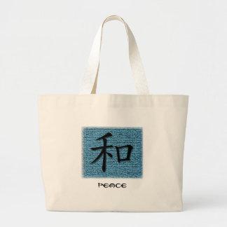 Símbolo chino de las bolsas de asas para la paz en
