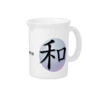 Símbolo chino de las jarras para la paz en esfera