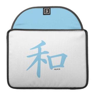 Símbolo chino de los azules cielos para la paz funda macbook pro
