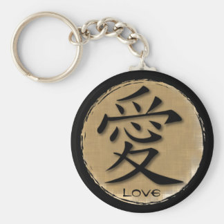 Símbolo chino de los llaveros para el amor en