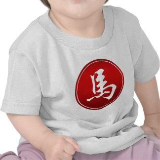 Símbolo chino del caballo del zodiaco camiseta