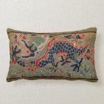 Símbolo chino del dragón del vintage de la fuerza cojines