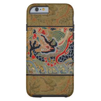 Símbolo chino del dragón del vintage de la fuerza funda de iPhone 6 tough
