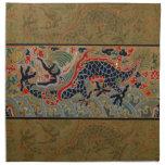 Símbolo chino del dragón del vintage de la fuerza servilleta imprimida