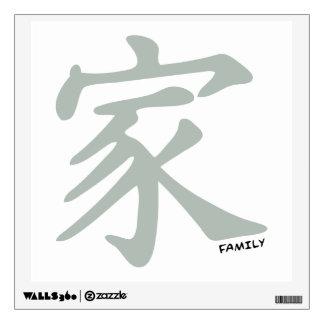 Símbolo chino del gris de ceniza para la familia