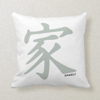 Símbolo chino del gris de ceniza para la familia almohada
