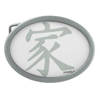 Símbolo chino del gris de ceniza para la familia hebillas de cinturón