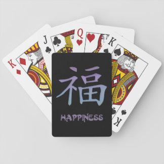 Símbolo chino del kanji del de los naipes de la