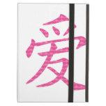 Símbolo chino japonés del amor de corazones