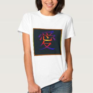 Símbolo chino para el amor polera