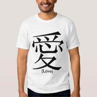 Símbolo chino para el amor poleras