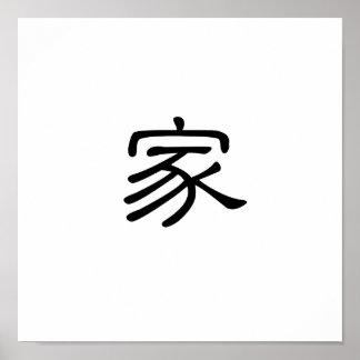 Símbolo chino para el hogar impresiones