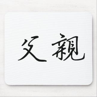 Símbolo chino para el padre tapete de ratón