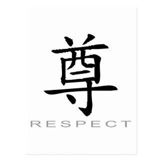 Símbolo chino para el respecto postal