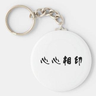 Símbolo chino para el soulmate llavero