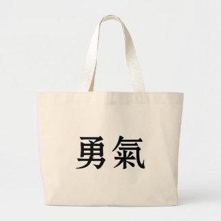 Símbolo chino para el valor bolsa tela grande