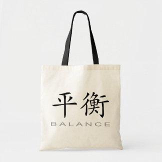 Símbolo chino para la balanza bolsa tela barata