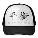 Símbolo chino para la balanza gorro de camionero