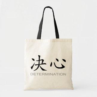 Símbolo chino para la determinación bolsa tela barata