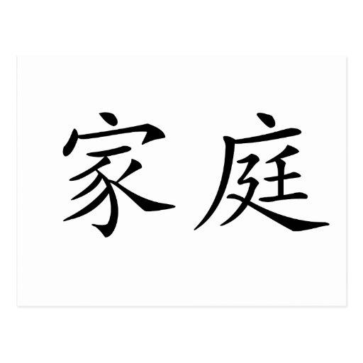 Símbolo chino para la familia postal