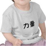 Símbolo chino para la fuerza camisetas