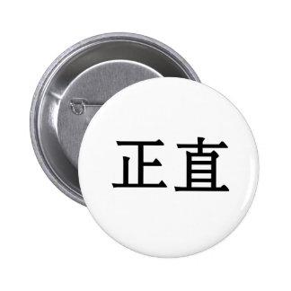 Símbolo chino para la integridad pins