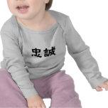 Símbolo chino para la lealtad camiseta
