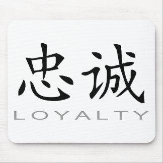 Símbolo chino para la lealtad alfombrillas de ratón