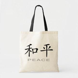Símbolo chino para la paz bolsa tela barata