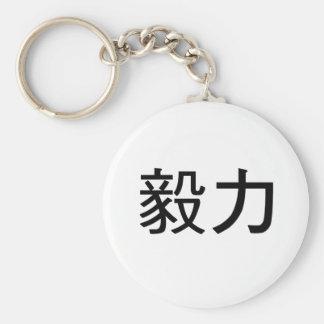 Símbolo chino para la perseverencia llaveros