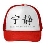 Símbolo chino para la serenidad gorro