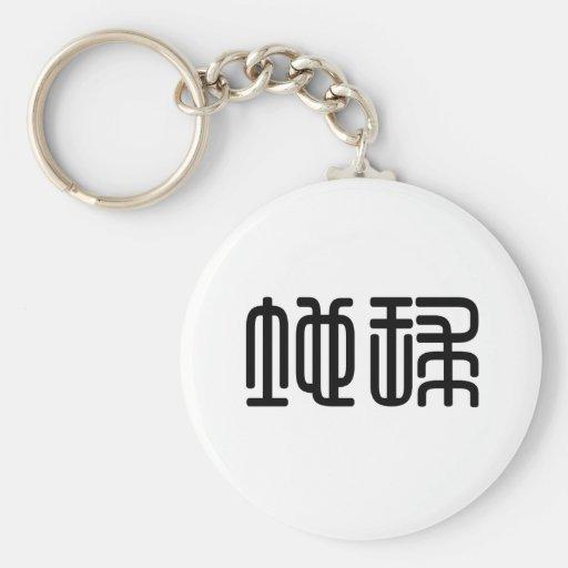 Símbolo chino para la tierra llavero