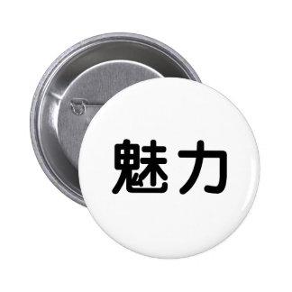 Símbolo chino para la tolerancia pins
