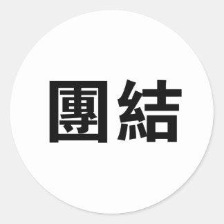 Símbolo chino para la unidad etiqueta