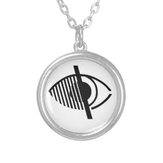 Símbolo ciego del acceso colgante redondo