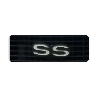 Símbolo clásico del emblema de los SS del coche de Etiqueta De Remite