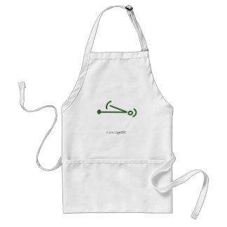 Símbolo cobarde verde de SymTell Delantal